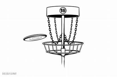 Golf Disc Clip Clipart Disk Vector Basket