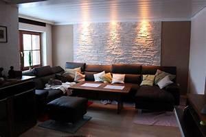 Steinwand Wohnzimmer Tv : steinwand selbst gemacht im wohnzimmer mit dundee weiss umbauen selbst gemacht mit steinw nden ~ Bigdaddyawards.com Haus und Dekorationen