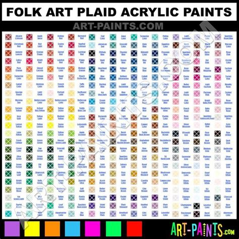 folk art paint color chart color charts folk art