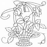 Embroidery Flower Quilt Qisforquilter Patterns Designs Baskets Basket Transfers Hand Quilter Vases Etc Flowers Pattern sketch template