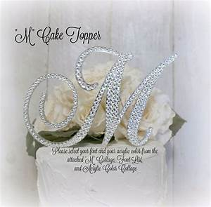 wedding cake topper letter m initial cake toppers m monogram With letter m cake topper