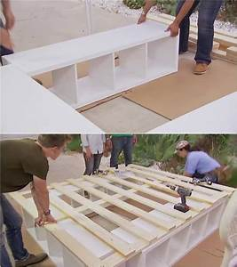 Ikea Hacks Podest : creative ideas how to build a platform bed with storage creative ideas diy bed build a ~ Watch28wear.com Haus und Dekorationen