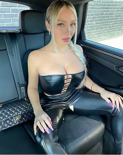 Daniella Chavez Leather Bust Jumpsuit Cen Flaunts