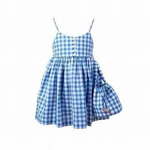 patron robe enfant dos nu vichy bleu a grands carreaux With robe vichy bleu