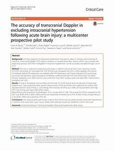 (PDF) The accuracy of transcranial Doppler in excluding ...