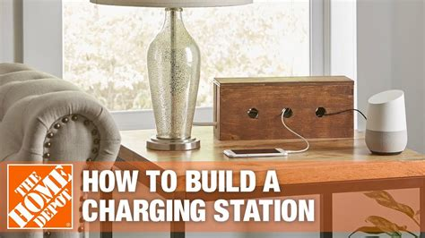 easy diy phone charging station   hide cords youtube