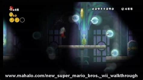 New Super Mario Bros Wii Walkthrough World 5 Ghost