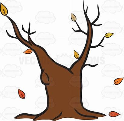 Tree Fall Emoji Clipart Trunk Cartoon Withered