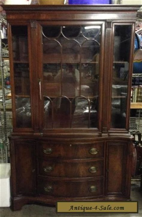 duncan phyfe china cabinet 1950 vintage mahogany wood glass duncan phyfe style china