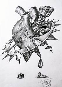 Mechanical Heart Drawing by Antonio Ivens