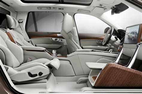 how things work cars 2011 volvo s60 seat position control volvo xc90 back seat gets vip treatment with lounge console concept motortrend