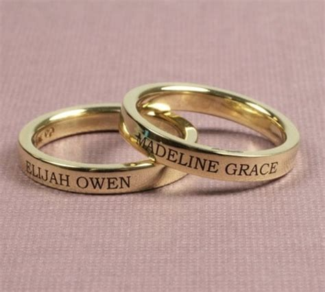 pics for gt gold engagement rings with name engraved