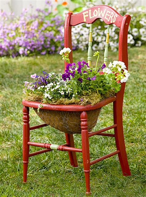 chaise pot creative chair planters for home garden home design and