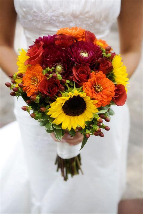 Sunflower And Dahlia Wedding Bouquet Photo Credit Klose