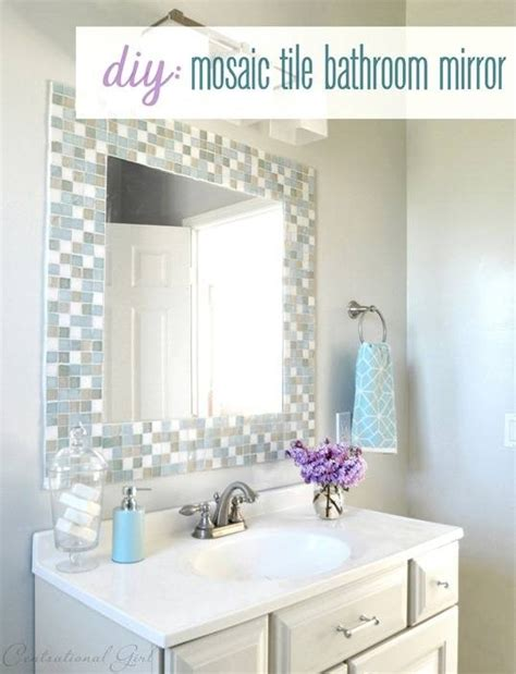 Tile Bathroom Mirror Frame by 15 Ideas Of Stick On Wall Mirror Tiles