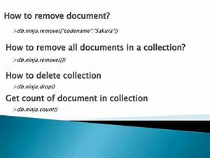mongodb beginner tutorial explaining basic operation via With mongodb remove documents
