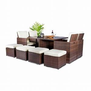 vanage gartenmobel set sydney in rattan optik polyrattan With französischer balkon mit garten lounge dining