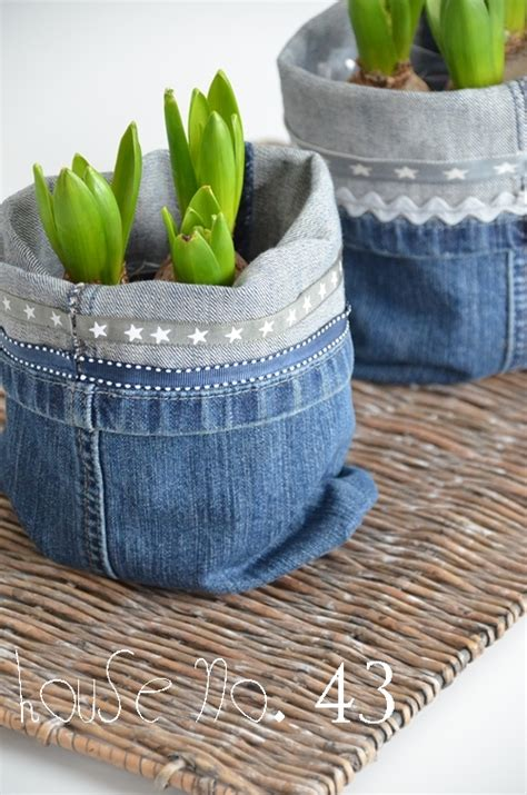 diy recycled jeans planter   instructions
