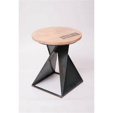 Le Sur Pied Design Industriel by Tabouret Design Industriel Bois Et M 233 Tal Co Achat