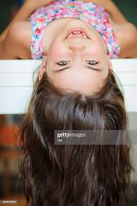 Upside, Down, Portrait, Of, A, Girl, High