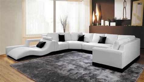 meubles et canap駸 cheap leather corner sofa ledersofa designer garnitur enzo weiss schwarz mit