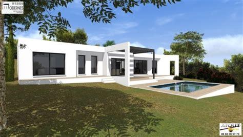 cuisine forme u maison contemporaine avec patio