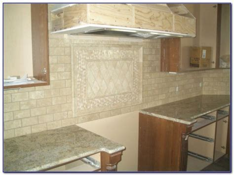 Beige Travertine Subway Backsplash Tile   Tiles : Home
