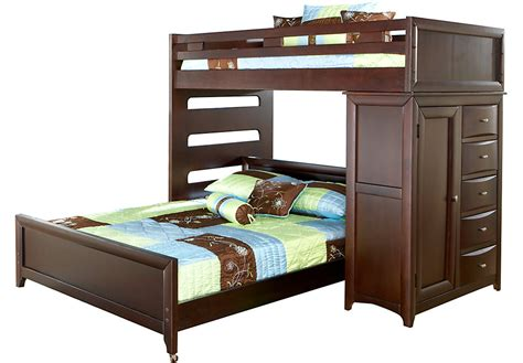 Disney Cars Bedroom Set by Ivy League Cherry Twin Full Student Loft With Chest Bunk