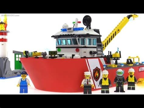 Lego Fire Truck And Boat by Lego City 2016 Fire Boat Review Set 60109 Youtube