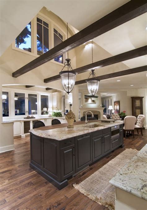 Traditional Kitchen, Beams And Vaulted Ceilings Home