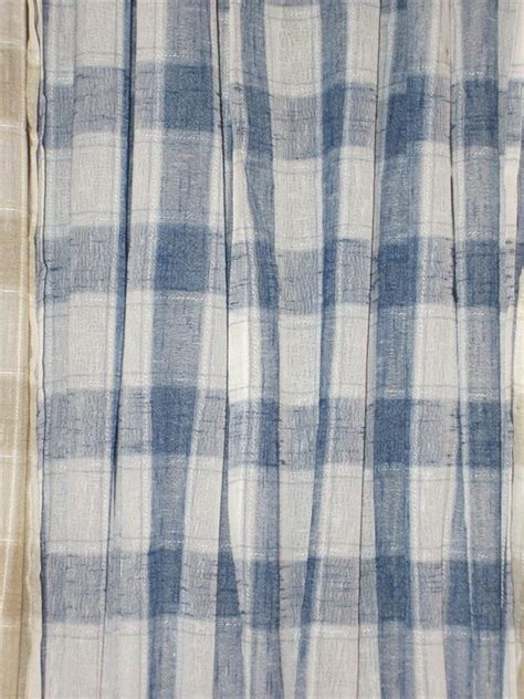 jcpenny country plaid curtain tiers valance pieces blue
