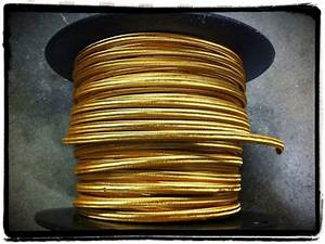 Gold Parallel Rayon Covered Wire  Antique Style Cloth Lamp