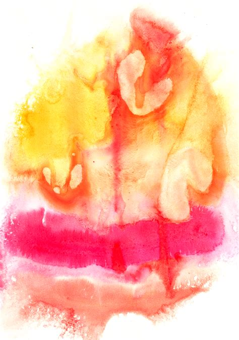 Abstract Shapes Watercolor by 4 Colorful Abstract Watercolor Shapes On Paper Reusage