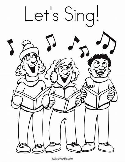 Sing Coloring Let Lets Singers Built California