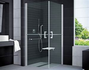 Dusche 100 X 100 : duschkabine behindertengerecht 100 x 100 x 195 cm duschabtrennung dusche eckeinstieg duschkabine ~ Bigdaddyawards.com Haus und Dekorationen