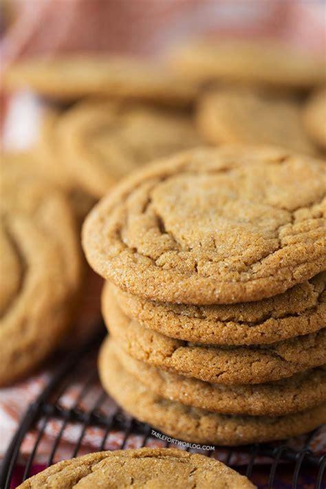molasses cookies ginger chewy soft recipe tablefortwoblog rum ever froggers joe crinkle pumpkin batch sugar austin table julie