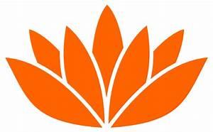 Orange Lotus Flower Picture Clip Art at Clker.com - vector ...