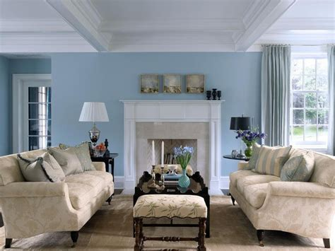 Livingroom Paint Ideas by Sky Blue And White Scheme Color Ideas For Living Room