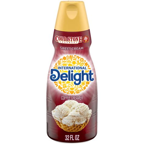 Brownie, pecan, caramel and fudge flavors mix with the taste of melted ice cream for a wonderful treat any time of day. International Delight Cold Stone Creamery Sweet Cream Coffee Creamer, 1 Quart - Walmart.com ...
