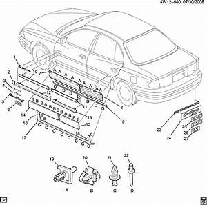 Buick Regal Molding Kit  Front Side Door  Matchincludes  Insertsorder