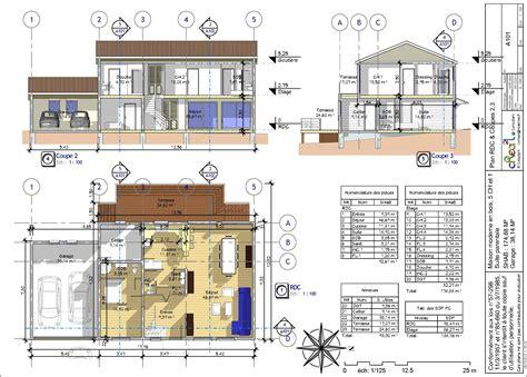 plan maison plain pied 4 chambres gratuit free pretty plan maison plan b d maison en bois m r plan