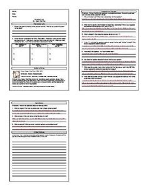 the raven by edgar allan poe lesson plans worksheets with