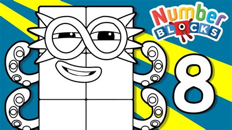 Coloring Numberblocks by Numberblocks Learn To Count Learn Colors Number