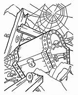 Pirate Coloring Cartoon Pages Pirates Treasure Chest Printable Outline Barrel Racing Clipart Colouring Sheets Line Open Clip Caribbean Library Printables sketch template