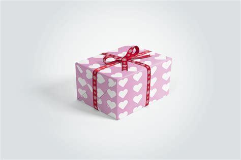 Wrapped Gift Box   MockupWorld