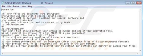 remove hydracrypt ransomware virus removal steps