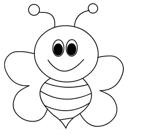 bee coloring page bee coloring pages for preschool and kindergarten