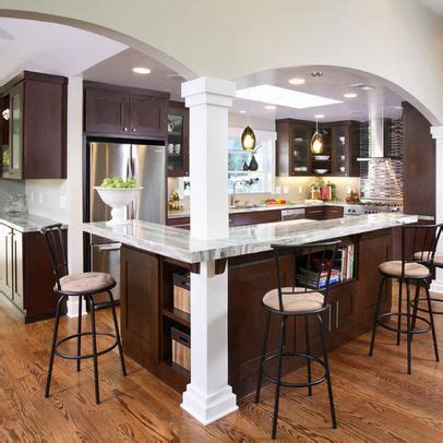 corner island kitchen open concept with load bearing pillars use this to 2607