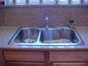 Drop In Sink On Granite quartz with drop in sink