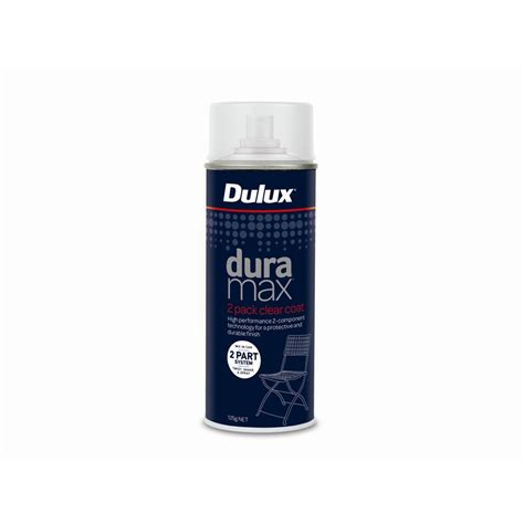 dulux duramax 2pk clear coat 125g spray paint bunnings